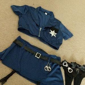Sexy Frederick's cop police Costume Sz. S/M